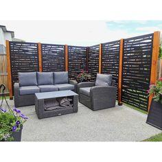 Backyard Privacy Screen, Privacy Fence Designs, Outdoor Privacy, Backyard Fences, Backyard Landscaping, Deck Privacy Screens, Backyard Patio Designs, Yard Design, Patio Decks