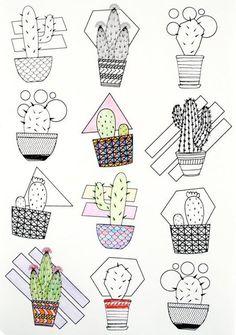 Cactus & Succulents Travel Size Coloring Book