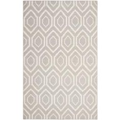 @Overstock - Moroccan inspired design and dense hand-woven wool pile highlight this handmade dhurrie rug. This floor rug has a grey background and displays stunning panel colors of ivory.http://www.overstock.com/Home-Garden/Moroccan-Dhurrie-Grey-Ivory-Wool-Rug-6-x-9/6830716/product.html?CID=214117 $249.99