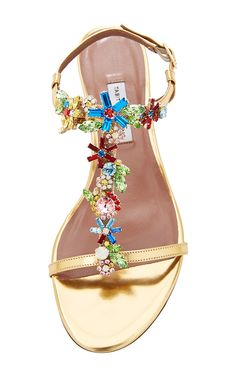 ccd8087ded528 Gold Quinn Sandal With Embellishments by Tabitha Simmons for Preorder on  Moda Operandi Tipos De Sapatos