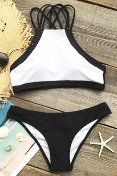 Cupshe Beach Rock Halter Bikini Set
