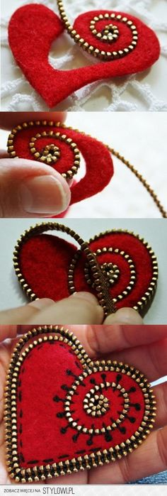 Felt Zipper Brooch