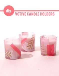Decoupage Votive Candle Holders | Martha Stewart Living - DIY votive candle holds are both super easy, and super chic.