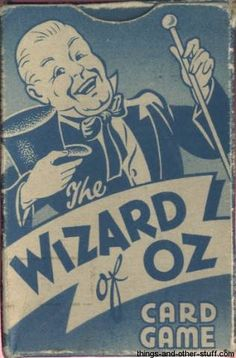 wizard of oz collectibles | 1940 Castell Brothers The Wizard of Oz Card Game