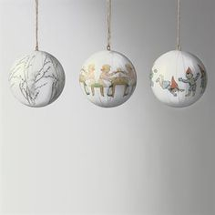 The endearing stories by the Swedish children's book author and illustrator Elsa Beskow have been interpreted by Catharina Kippel. Catharina has selected visual quotations from the original illustrations and reworked Elsa's images into patterns. The lovely Christmas tree ornaments from Design House Stockholm are handmade of lacquered paper decoupage with motifs from different Beskow stories. Decorate your Christmas tree with these fine ornaments or give them away as a gift to someone you…
