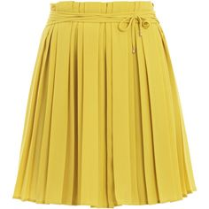 Diane Von Furstenberg Missy Skirt (€125) ❤ liked on Polyvore featuring skirts, bottoms, saias, yellow, gonne, wrap skirt, yellow skirt, yellow pleated skirt, wraparound skirt and diane von furstenberg skirt