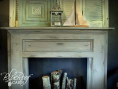 VERY simple mantel - can be made with only regular saw and a hammer (stock lumber sizes) - might have to add a mantel to my dining room or bedroom (no fireplaces in there) - full instructions available - by blue roof cabin: Mantel Made From Pine Boards - #Mantel #DIY tå√