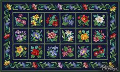 Code 081220 Carpet A palette of 36 colors in DMC. The scheme is suitable for embroidery with beads and petit point. Size 260x156 st. Price 5 $
