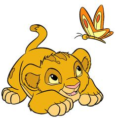 simba and a butterfly - Google Search
