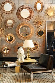wall of mirrors! xoxoxox...South Shore Decorating Blog: Tuesday Eye Candy #6