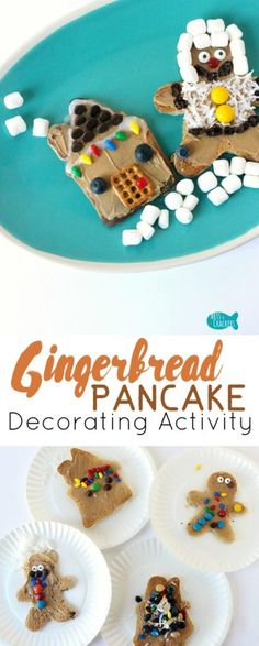 These gingerbread pancakes to decorate are a fun Christmas Day breakfast activity. Pancake Party | Christmas Treat | Christmas Food | Snack Ideas | Breakfast Ideas | Breakfast for Kids | Gingerbread | Gingerbread Men | Gingerbread House | Gingerbread Pancakes | Gingerbread House Pancake | Gingerbread Man Pancake | Pancake Bar | Pancake Decorating | Party Activities | Kid Made Food | Breakfast for Kids | Christmas Morning