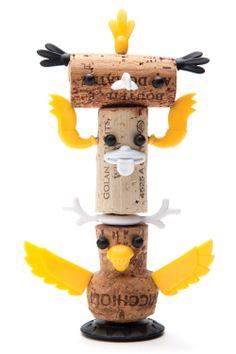 Corkers Totem- Designed by Reddish Studio & Oded Friedland - Fun gifts for fun people at Monkey Business Totem Pole Craft, Wine Corker, Pole Art, Indian Crafts, Gifted Kids, Kindergarten Art, Monkey Business, Cork Crafts, Creative Kids