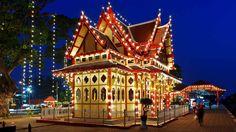 Resplandecientes luces navideñas