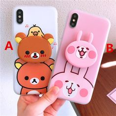 Bear And Rabbit Phone Case for iphone Max ●Material: silicone. ●Note:including one case and one airbag bracket. ●About Shipping: We attach great importance to the orders of each customer and parcel delivery. Kawaii Phone Case, Cute Phone Cases, Iphone Phone Cases, Phone Covers, Iphone 6, Iphone 7 Plus, Baby Slide, Cell Phone Addiction, Kawaii Bedroom