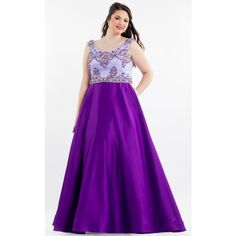 Rachel Allan 7849 Plus Size Dress Long High Neckline Sleeveless ($538) ❤ liked on Polyvore featuring dresses, formal dresses, lilac, prom dresses, high neck prom dresses, purple formal dresses, plus size prom dresses and glitter prom dresses
