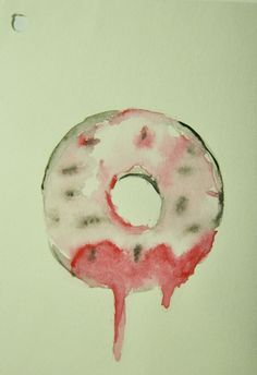 Donuts panic!    water color on paper