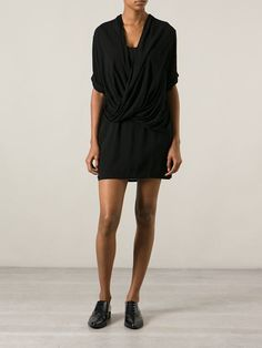 Helmut Lang Draped Shift Dress - Giulio - Farfetch.com