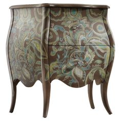 Hooker Furniture Mélange Viera Paisley Bombe Chest with 2 Drawers - DuBois Furniture - Occasional Cabinet Waco, Temple, Killeen, Texas Accent Chests And Cabinets, Traditional Dressers, Traditional Decor, Sweet Home, Hooker Furniture, Hand Painted Furniture, Joss And Main, Chest Of Drawers, Beautiful Homes