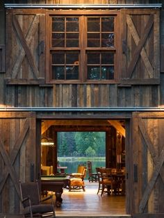 Entryway of a converted barn home