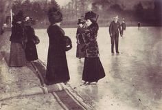 Ice skating in the Bois de Boulogne c.1900s  Paul Frecker