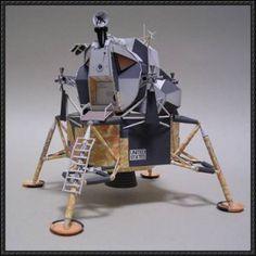 Apollo Lunar Module Free Paper Model Download