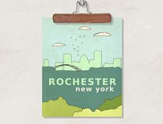 Rochester New York  // Typographic Print by LisaBarbero on Etsy