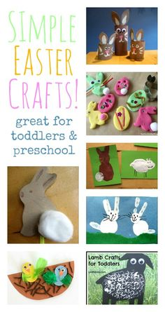 Lovely simple Easter crafts for toddlers and preschool
