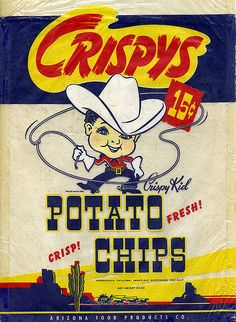 Crispys Potato Chip Bag by grickily, via Flickr