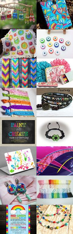 Cascade of Color!~TeamUNITY~Group 9 by Kathy Carroll on Etsy--Pinned with TreasuryPin.com