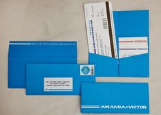 Wedding, Party - Save the Date made to look like vintage Pan-Am airline tickets