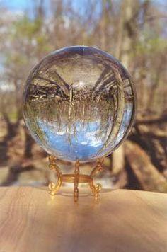 woods through crystal ball