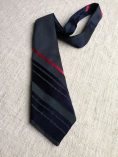 Paul Smith Navy Blue Red Stripe Silk Business Tie by ENGARLAND on Etsy