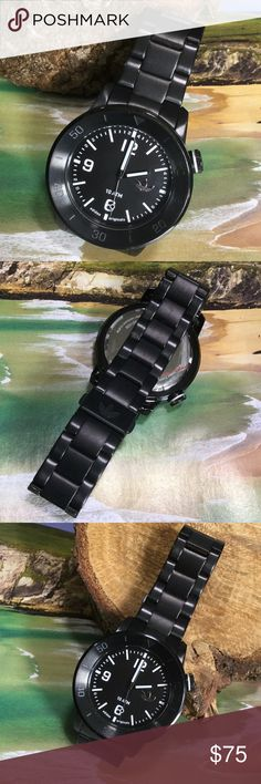 Adidas Men's Manchester Original Watch Never been worn!  Water resistant. Stainless steel black bracelet. Requires a Quartz battery. Adult man's round shape watch. Serial number ADH2976. Band Width 22mm. Case size 46 mm. Great Gift! Adidas Accessories Watches