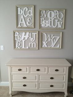 Painted Alphabet Letter Set - in Mixed Fonts and sizes- ABC Wall- Home decor- Child Nursery letters on Etsy, $157.94 CAD
