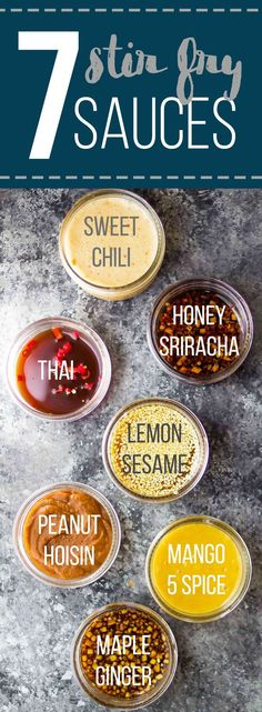 7 Easy Stir Fry Sauces you can prep ahead and freeze! Plus instructions on how to make stir fry freezer packs. {most are vegan or vegan adaptable}