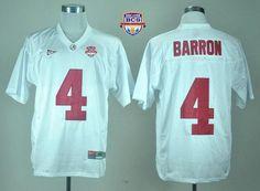 ... Crimson Tide 4 Mark Barron White 2013 BCS National Championship  Embroidered NCAA Jersey Emillia ...