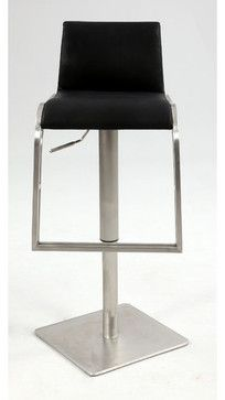 Adjustable Height Stool with Upholstered Back Rest modern-bar-stools-and-counter-stools