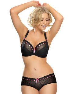 Cute, feminine and supportive, the Curvy Kate Portia Balcony Bra fits and flatters D - K cups!