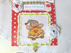 Baby's Girl Christmas Ornaments by CrossStitchElizabeth on Etsy