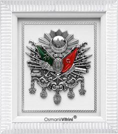 #Tuğra #Arma #OsmanlıTuğrası #OsmanlıArması #Osmanlı #OsmanlıVitriniz 29x33 cm Beyaz Gümüş Osmanlı Arması