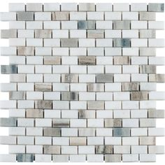 MS International Palisandro Mini Brick 12 in. x 12 in. x 10 mm Polished Marble Mesh-Mounted Mosaic Tile-PALI-MB10MM - The Home Depot