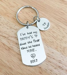 We Have a Hero We Call Him Daddy Sheriff Officer Police Family Dad Love Dad Child Kid Fathers Day Keychain Gift for Him Personal