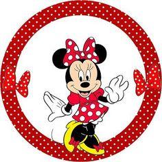 Kit Completo Minnie Vermelha - com molduras para convites, rótulos de guloseimas, lembrancinhas e imagens | Fazendo a Nossa Festa