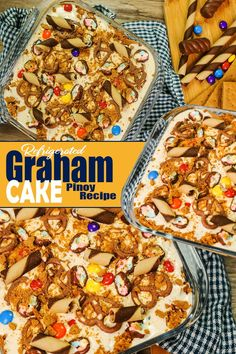 How To Make Refrigerated Cake / Graham Cake With Assorted Toppings. Refrigerated cake or Graham Cake is a Cake dessert made of Cream, Condensed Milk , Graham Crackers Added with your chosen Toppings and Filings. #refrigeratedcake #grahamcake #refcake Graham Cake, Easy To Make Desserts, Desserts Menu, Pinoy Food, Condensed Milk, Graham Crackers, Sweets, Cream, How To Make
