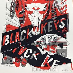 The Black Keys - 2012 Tyler Stout poster Las Vegas Nevada
