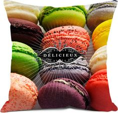 Delicieux Pillow: Filled with polystyrene beads. Available in a variety of sizes Made in France Food Pillows, Throw Pillows, Healthy Eating Guide, Small Cushions, Canapé Design, Home Food, Macarons, Wall Colors, How To Make Cake