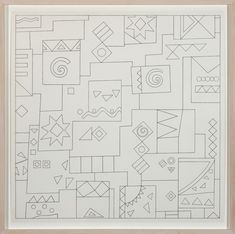 Mathew Cerletty Shirts, God, Hawaii, Hello, Goodbye, Shelves, 2012  graphite on paper 64,7 × 64,7 cm (25 1/2 × 25 1/2 inches)