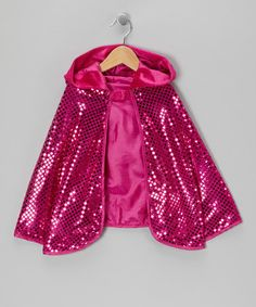 Loving this Hot Pink Sequin Cape - Girls on #zulily! #zulilyfinds