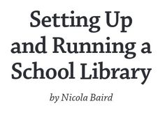This book has been written to help you to set up and run the type of library that best suits your school. The guidelines are based on the many years' experience of VSO teachers and librarians working with local colleagues in low-resource schools throughout the developing world. Step-by-step instructions are provided to help you establish the library and run it well.