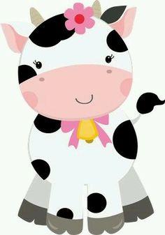 Cute Farm for Girls Clip Art. Cow Birthday Parties, Farm Birthday, Farm Animal Party, Farm Party, Farm Animals, Cute Animals, Cow Clipart, Zebra Clipart, Girls Clips